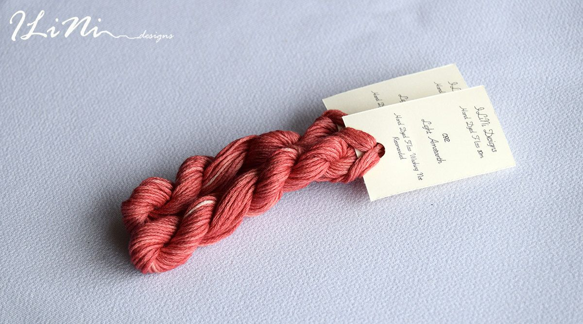 Hand dyed cotton thread / floss (6 strands) light amaranth (092) for