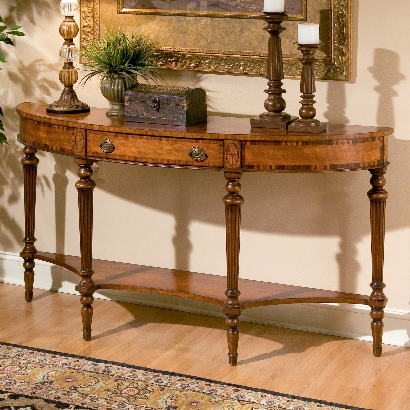 Butler Demilune Console Table 32H in Connoisseurs 1510090