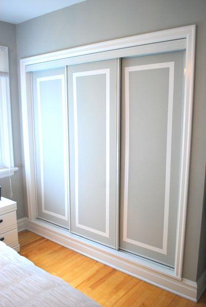 Glass Sliding Closet Doors Makeover
