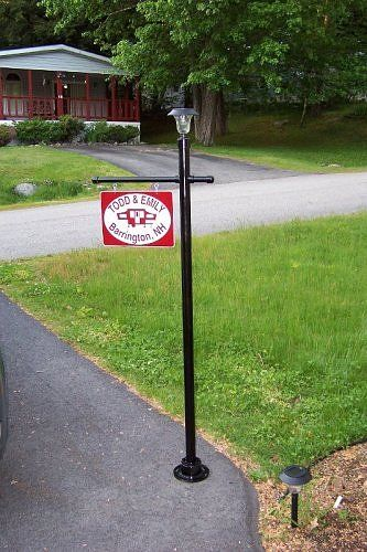 Delightful Camp Sign/lamp Post Made From Pvc Pipe.   To Hold The Chalkboards!