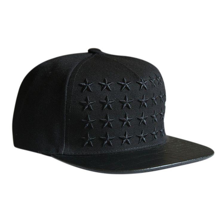 c1ea8c8edd5 Black Star baseball cap for men fashion embroidered baseball caps ...