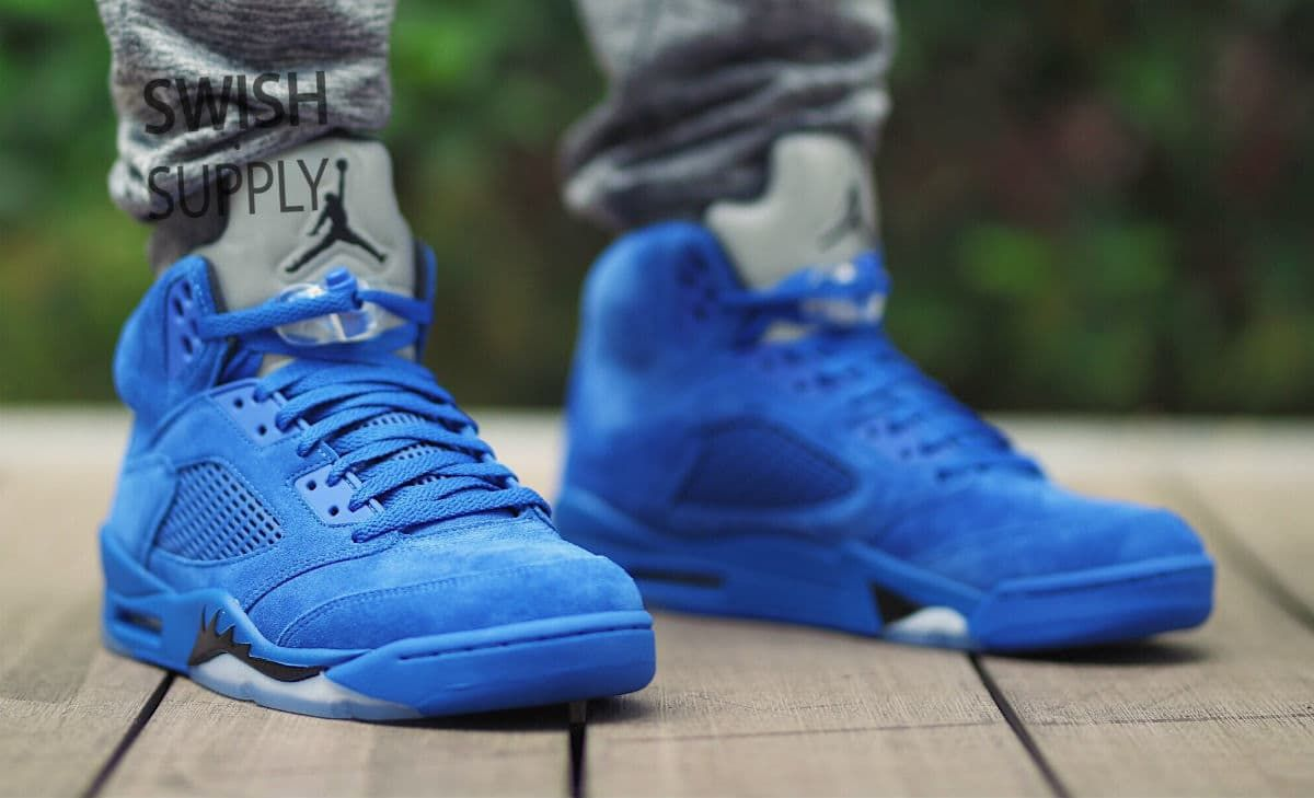 "timeless design b2d92 7804e Air Jordan 5 Retro ""Blue Suede"""