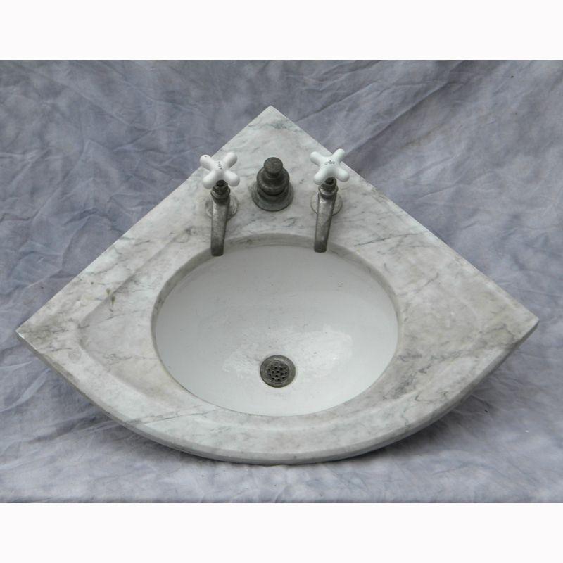 Lovely Antique Corner Marble Sink