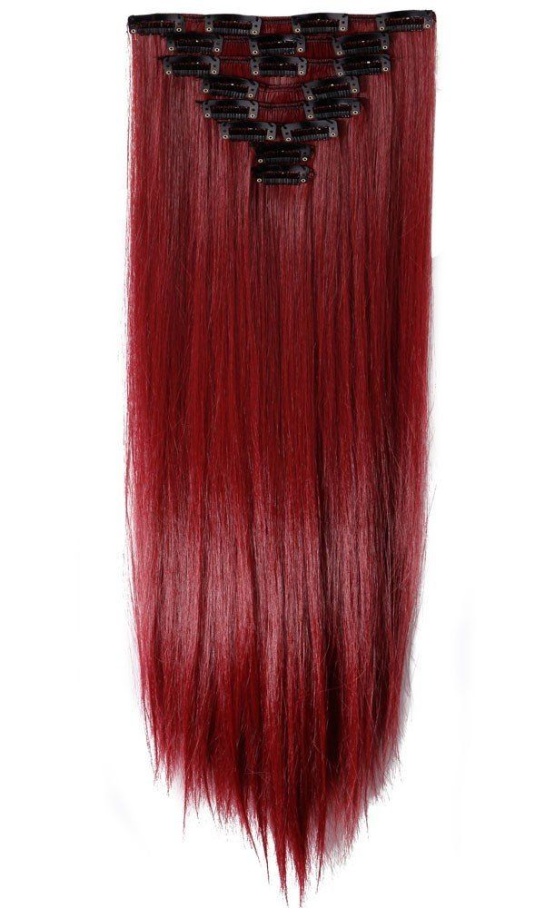 S Noilite 26 Inches66cm Long Straight Maroon Mix Dark Red Full