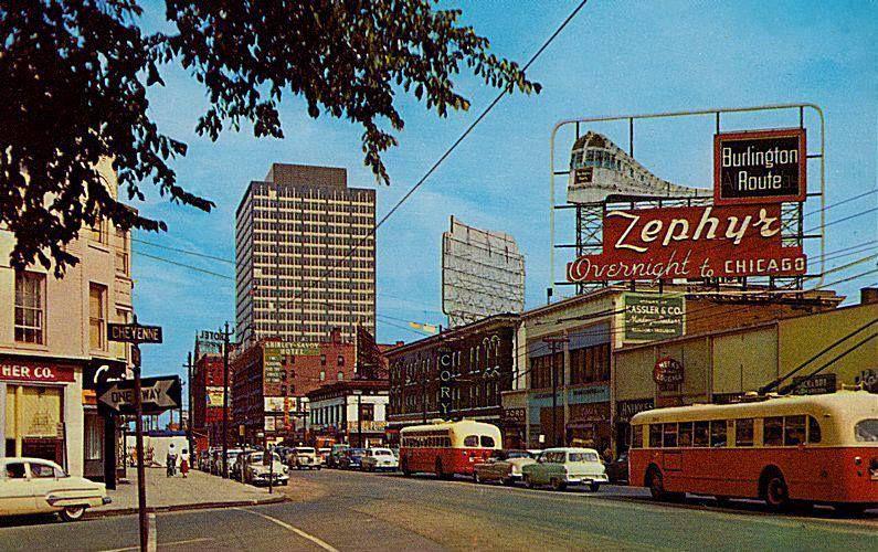 Burlington Zephyr Advertising In Denver Colorado 1950s
