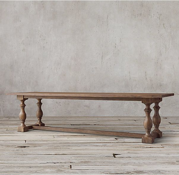2K 120 INCH TABLE RH's 17th C. Priory Rectangular Dining