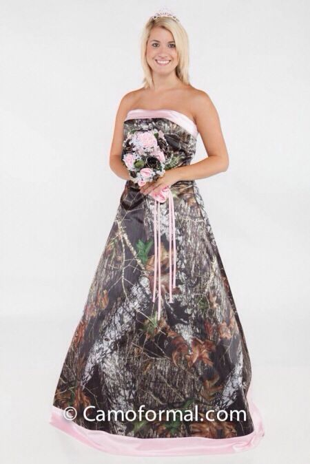 Pin By Britt Randy On Plans For Me Randy S Wedding Camo Wedding Dresses Camouflage Wedding Dresses White Camo Wedding Dress