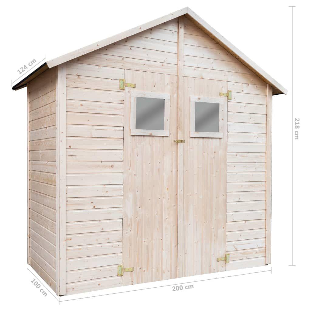 Medina Garden shed 226x124x218 cm wood