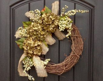 Spring Summer Fall Wreath Green Berry Twig от AnExtraordinaryGift