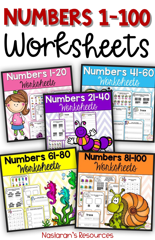 Numbers To 100 Numbers 1 100 Worksheets
