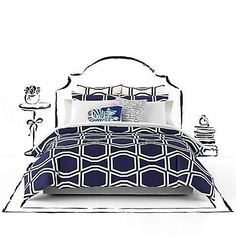 Kate Spade New York Bow Tile Comforter Set Comforter Sets Queen Comforter Sets Duvet Sets