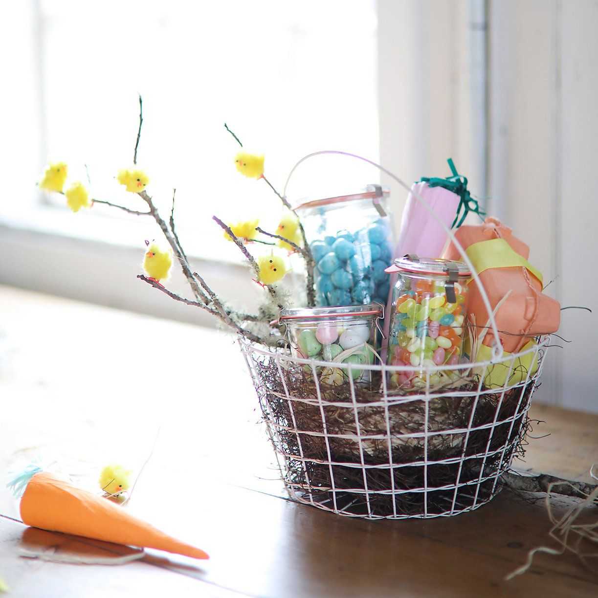 Easter Basket 2.0 | Wire Easter Basket with Jarred Candies and ...