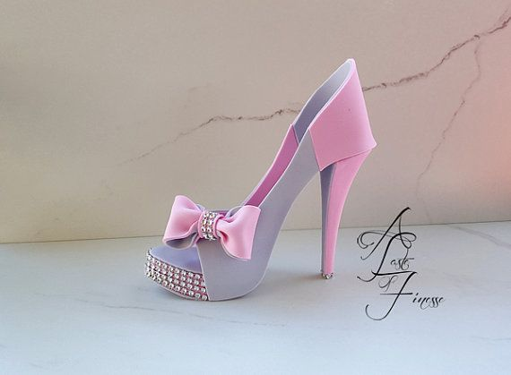 77db57da312ff Pattern Template Fondant High Heel Shoe Cake Topper, Sugar Shoe ...