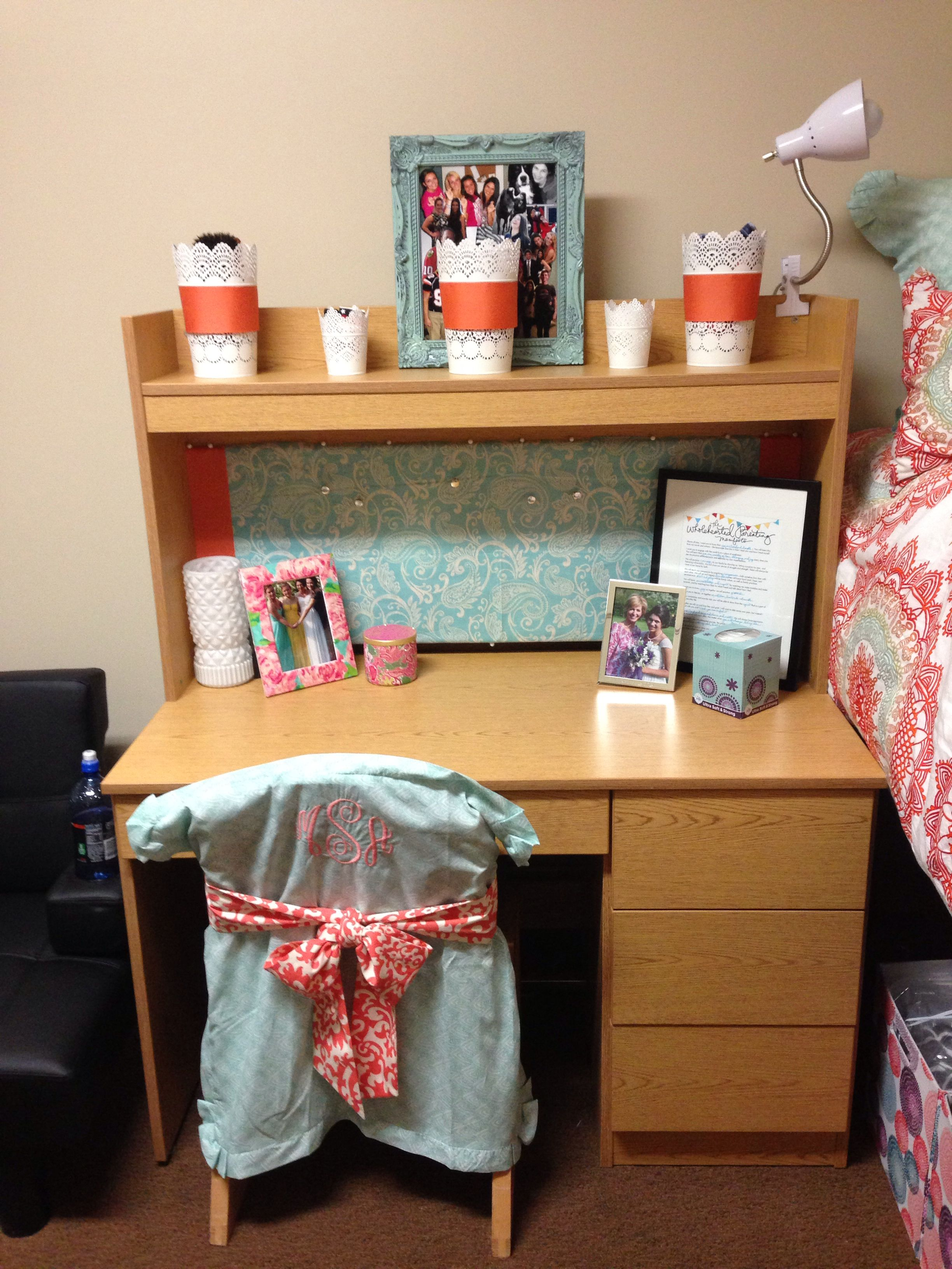 Chairs For Dorm Rooms Pinterest Makeitmadidorm Desk And Monogram Chair Cover