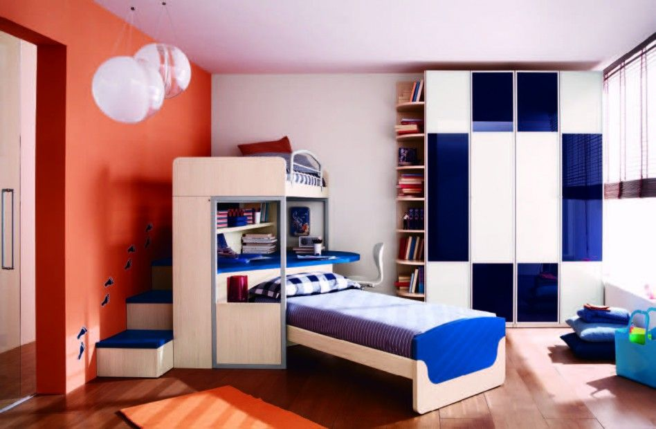 Captivating Kids Bedroom New Trend In Boys Bedroom Designs With Bunk Bed: Boys Bedroom  With Laminated Design Inspirations