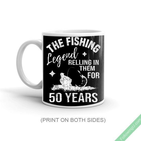 The Fishing Legend Funny 50Th Birthday Gift Mug #moms50thbirthday Awesome vintage 50th Birthday gift idea for men and women. Consider this great Mug is a perfect present idea for anybody born in your family getting close to their 50th, 50 Year Old Birthday party. Cool gift for mom or dad who turning 50 yrs old. This hilarious graphic birthday Mug makes a great bday [...] #moms50thbirthday The Fishing Legend Funny 50Th Birthday Gift Mug #moms50thbirthday Awesome vintage 50th Birthday gift idea fo #moms50thbirthday