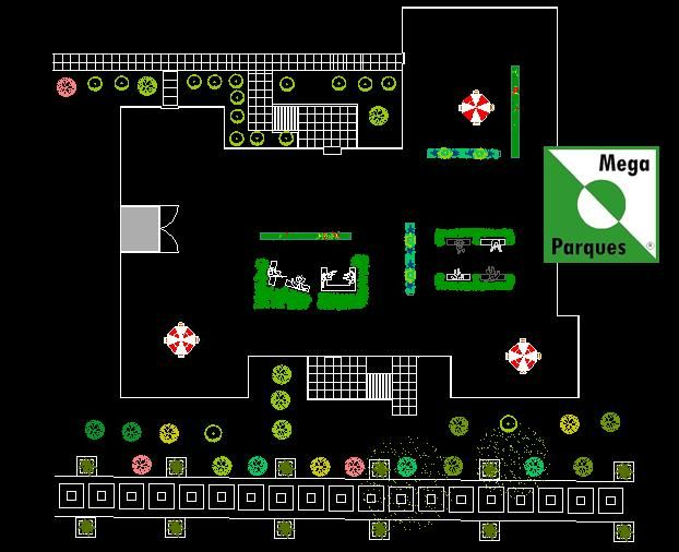 Terraza verde con espacios de integración, zonas de intimidad y paisaje de 360 grados.