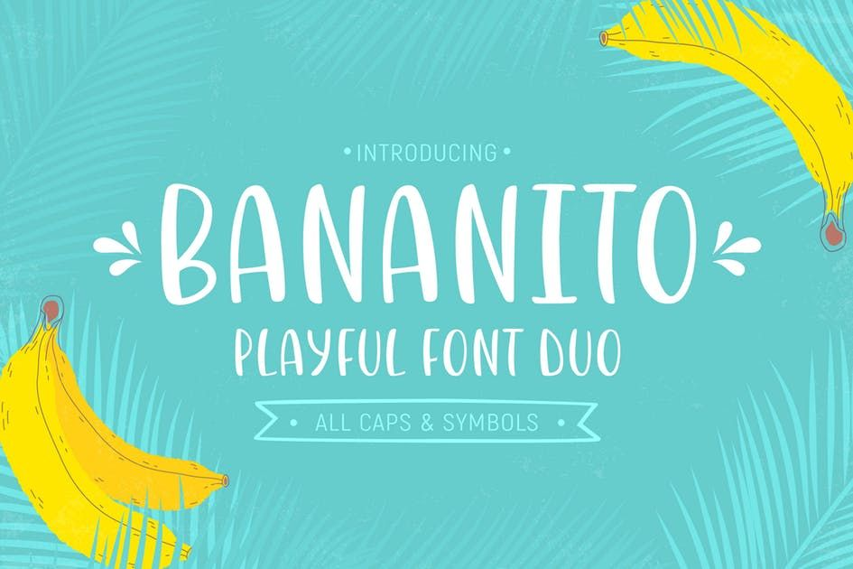 Download Download Bananito Font Duo Fonts by Yuzach. Subscribe to ...