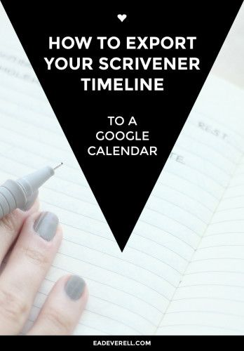 How to Export Your Scrivener Timeline to a Calendar or a Spreadsheet