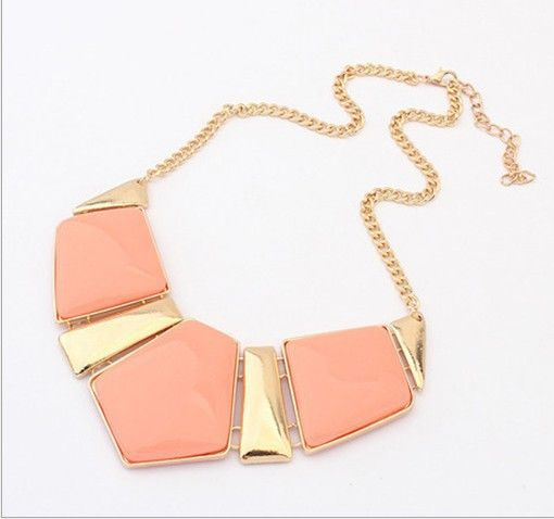New Candy Color Collar Necklaces Pendants Fashion Statement Metal Choker Necklace For Women Vintage Jewelry Accessories