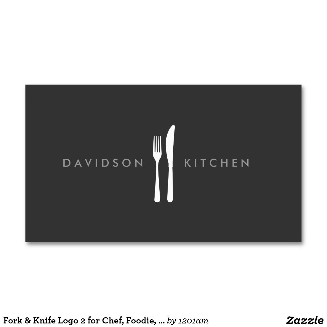 Fork knife logo 2 for chef foodie restaurant business card fork knife logo 2 for chef foodie restaurant business card colourmoves