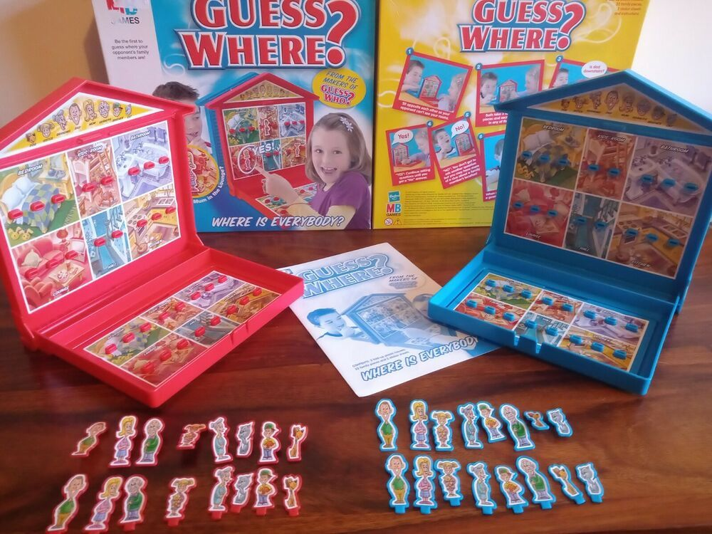 Guess Where? MB Games/Hasbro Boxed Complete Board Game