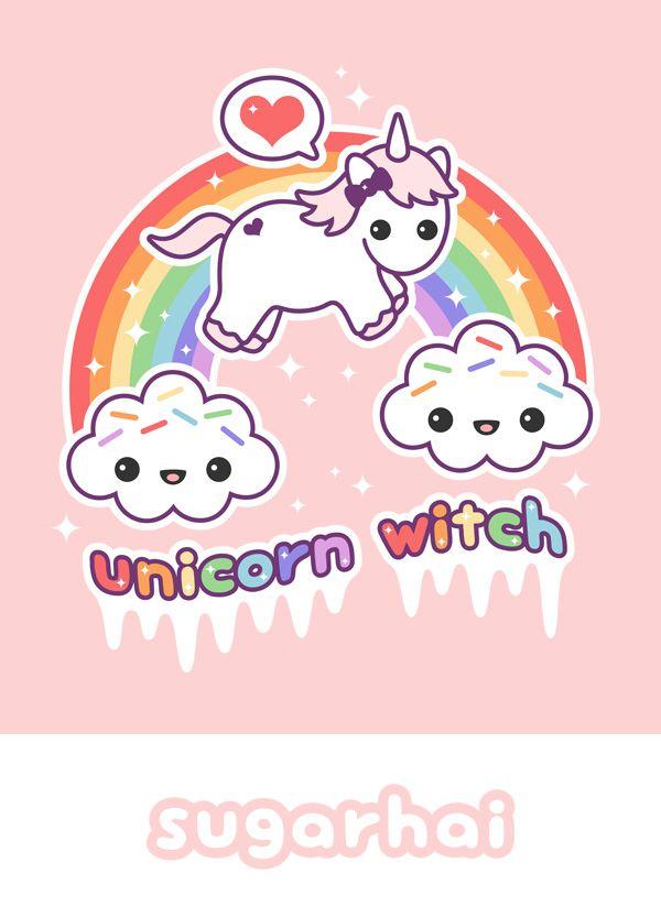 Kawaii Unicorn With Rainbow With Images Kawaii Unicorn Cute