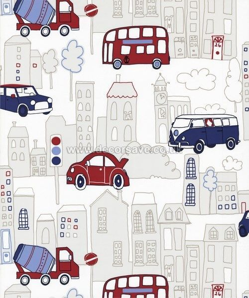 Arthouse Opera Fun Motor Mania Wallpaper 533501 Childrens Kids Cars Buses Blue