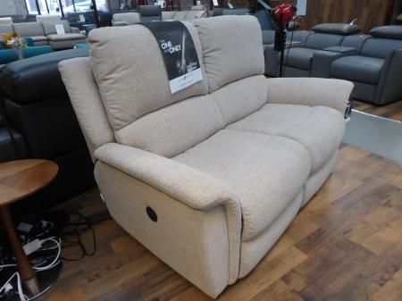 La Z Boy Originals Kennedy 2 Seater Power Recliner. The Beautiful Model Is  Upholstered In Inspiration Stone Fabric. The Kennedy From The La Z Boyu2026