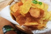 Homemade Baked Potato Chips #kartoffelrosenrezept
