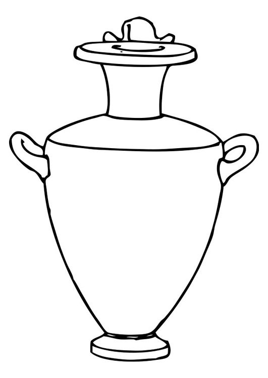 Coloring Page Amphora Greek Art Ancient Greek Art Greek Pottery