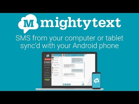"PC & MOBILE ""MightyText"" A cool app that uses your"