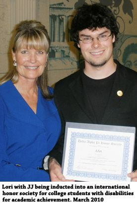 """My friend Lori Ciccarelli's film """"JJ's Journey, a Journey about Autism"""", is her story of the journey, with her then  23-year-old son JJ and  his Autism. She believes she is a missionary for autism and feels it is her responsibility to support other families. She believes, """"I finally realized my son didn't need a cure, he just needed tools for success and to function responsibly in society ...  Once I accepted my son's diagnosis, doors started opening because I started opening those doors."""""""