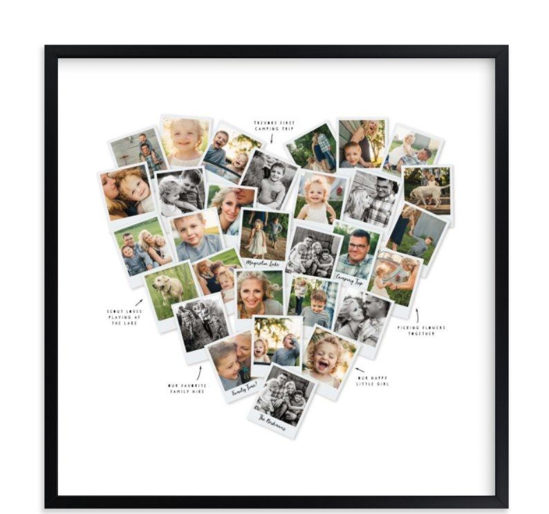 12 Unique Photo Gift Ideas Heart Photo Collage With Captions From Christmas To Mother S Day A Creative Custom Pho Custom Photo Art Print Photo Art Mix Photo