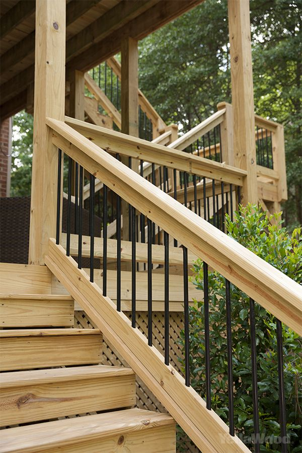 Best Iron And Wood Deck Railing … Outdoor Stair Railing Wood 400 x 300
