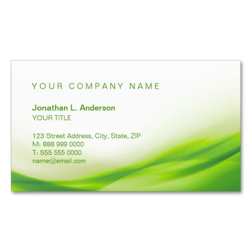 Green Wave Business Card Zazzle Com Green Wave Green Business Customizable Business Cards