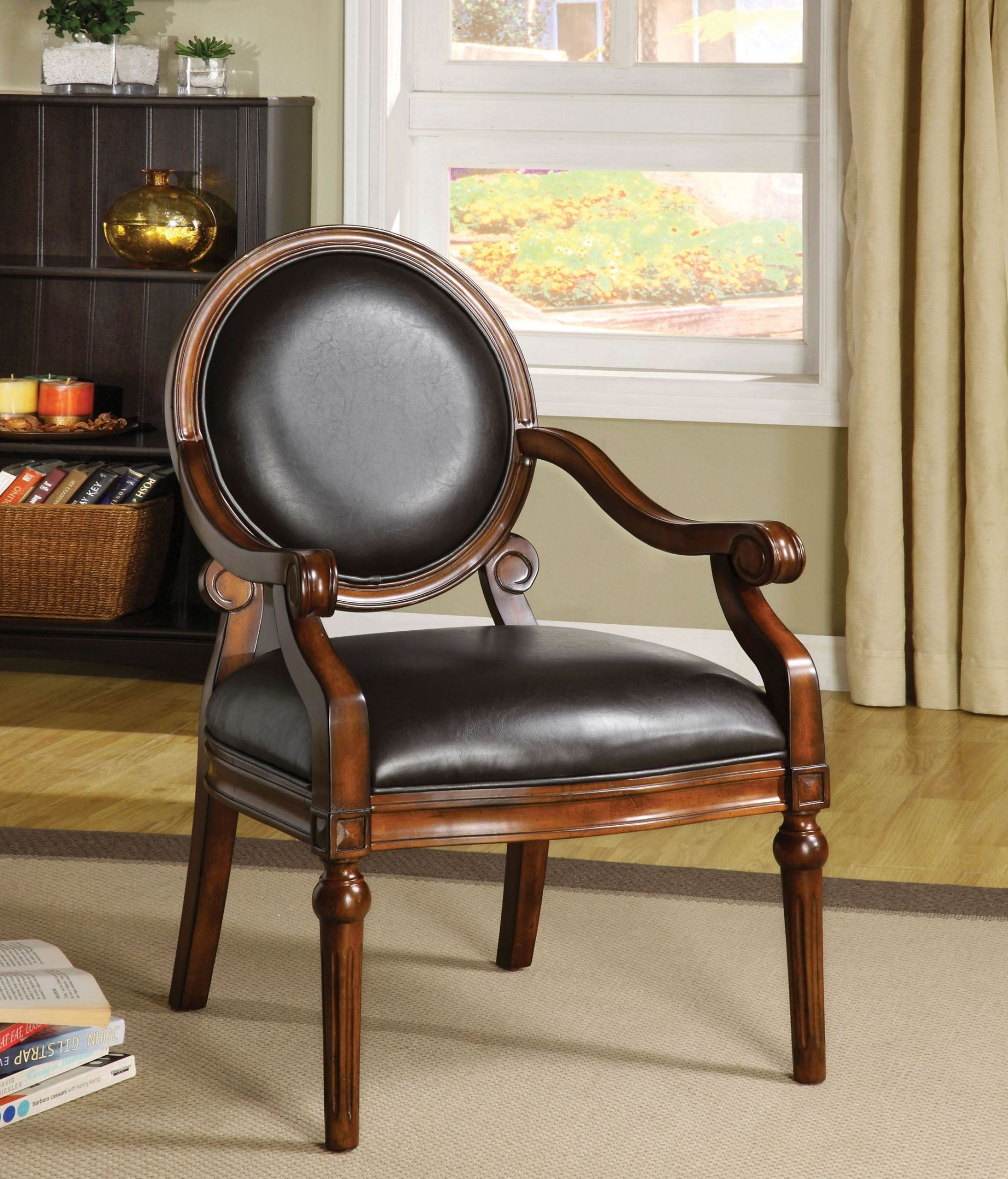 1stopbedrooms Com Traditional Accent Chair Accent Chairs Leather Accent Chair #traditional #chairs #for #living #room