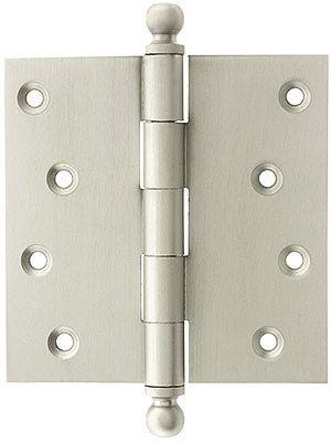 4 1 2 Solid Brass Door Hinge With Ball Finials Brass Door Hinges Door Hinges