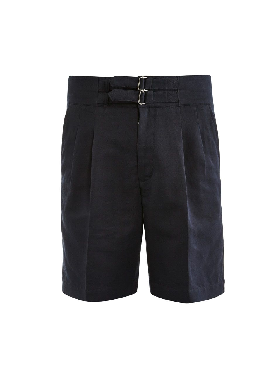 Trussardi Double-waisted strap-detail shorts