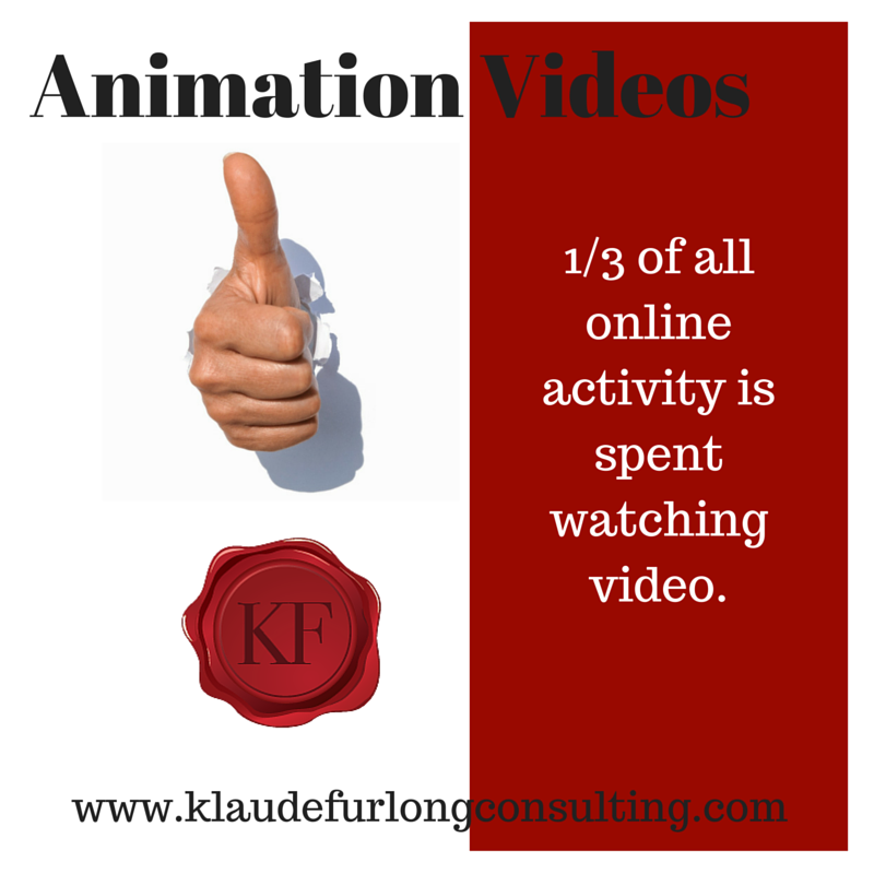 1/3 of ALL online activity is spent watching videos! Visit my website at http://www.klaudefurlongconsulting.com/!animation-videos/l7jru and find out how!