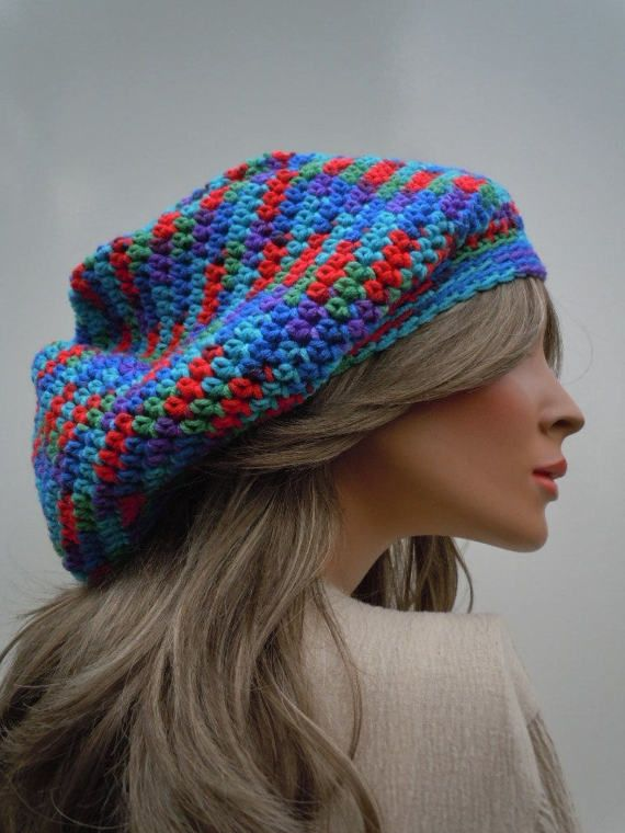 Dreadlock Tam Rasta Tam Hippie Hat Bag Hat Bright Colors | Dreadlock ...