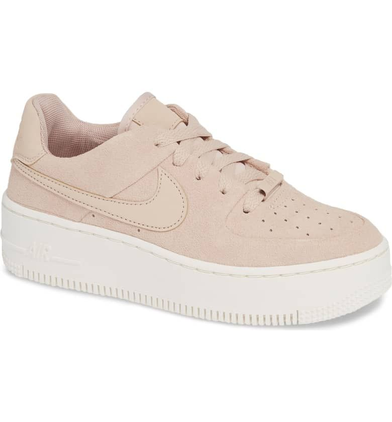 quality design 80c73 7fb7f Nike Air Force 1 Sage Low Platform Sneaker  Pink Suede Nike Air Force Ones   POPSUGAR Fashion Photo 3