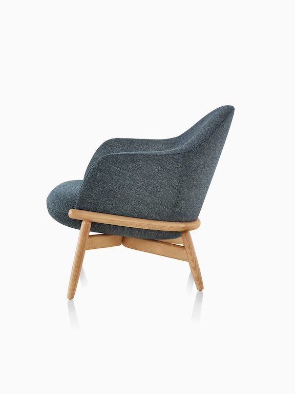 Miraculous A Mid Back Reframe Lounge Chair In Bellano Black Green Creativecarmelina Interior Chair Design Creativecarmelinacom