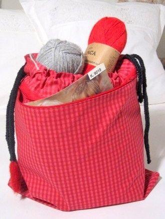 Veske til strikketøy Epla