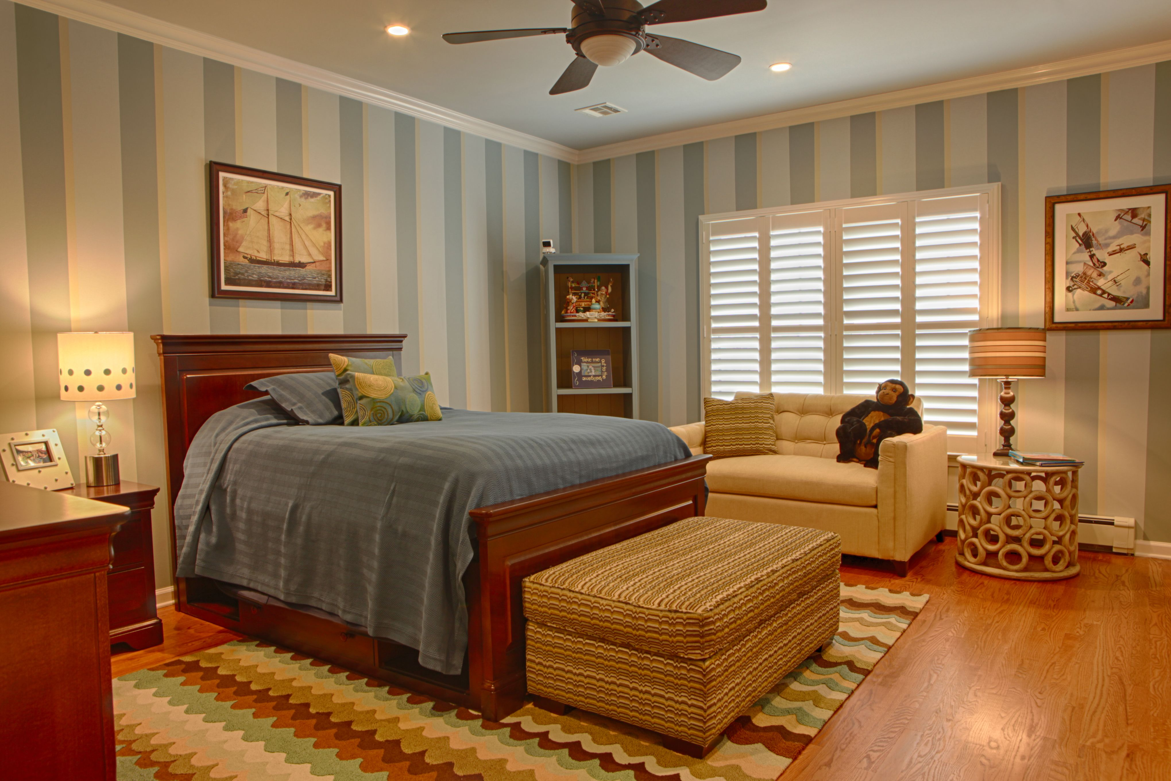 Cool Design Ideas Kids Bedroom With Ceiling Lighting And A
