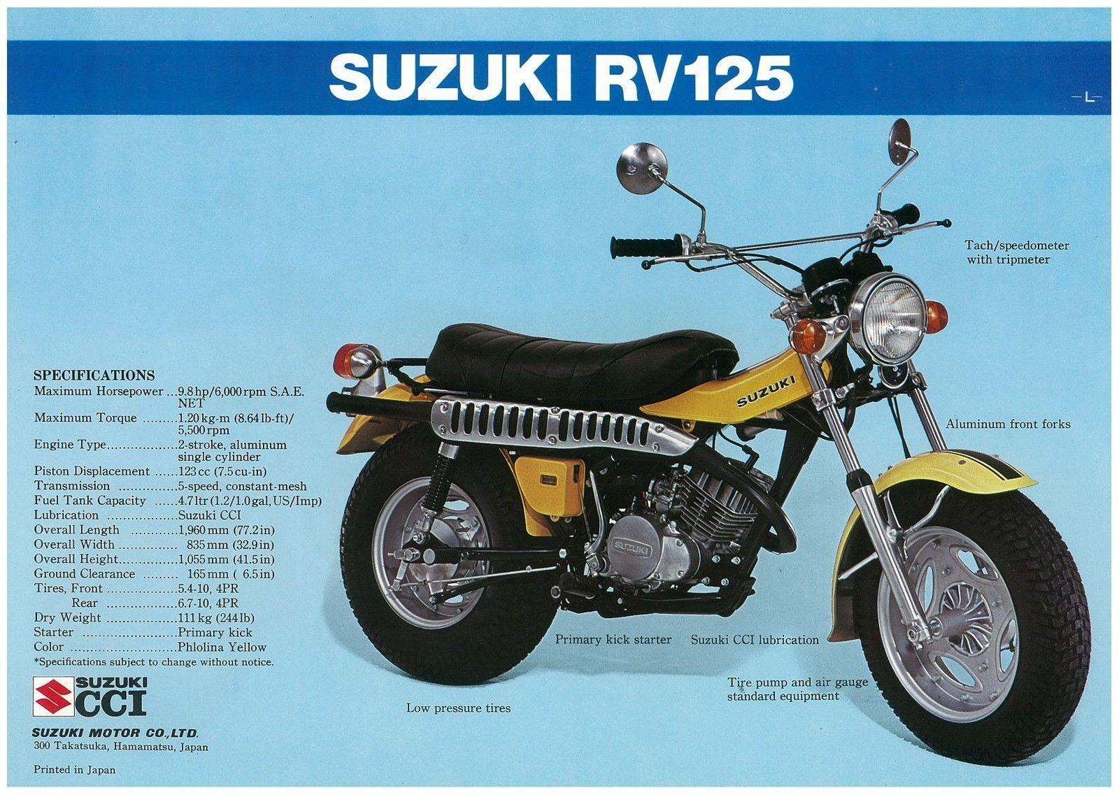 1974 Suzuki Rv125l Suzuki Suzuki Bikes Vintage Honda Motorcycles