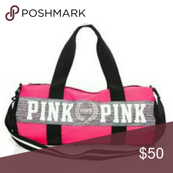 f0cae9c590f Selling this Pink duffle gym bag on Poshmark! My username is  brierock.   shopmycloset  poshmark  fashion  shopping  style  forsale  PINK Victoria s  Secret   ...
