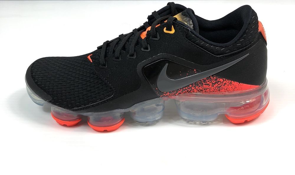 a1ba6e0266d Nike Air Vapormax GS Size 6.5y Youth Black Dark Grey Orange 917963-009  155