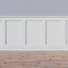 Deluxe Shaker PVC Wall Paneling in White