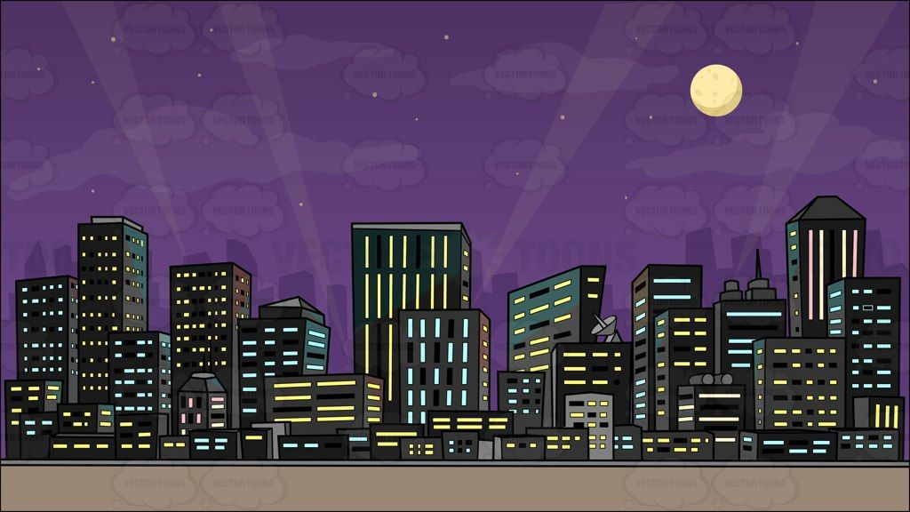 A View Of The City At Night Background | Night skies